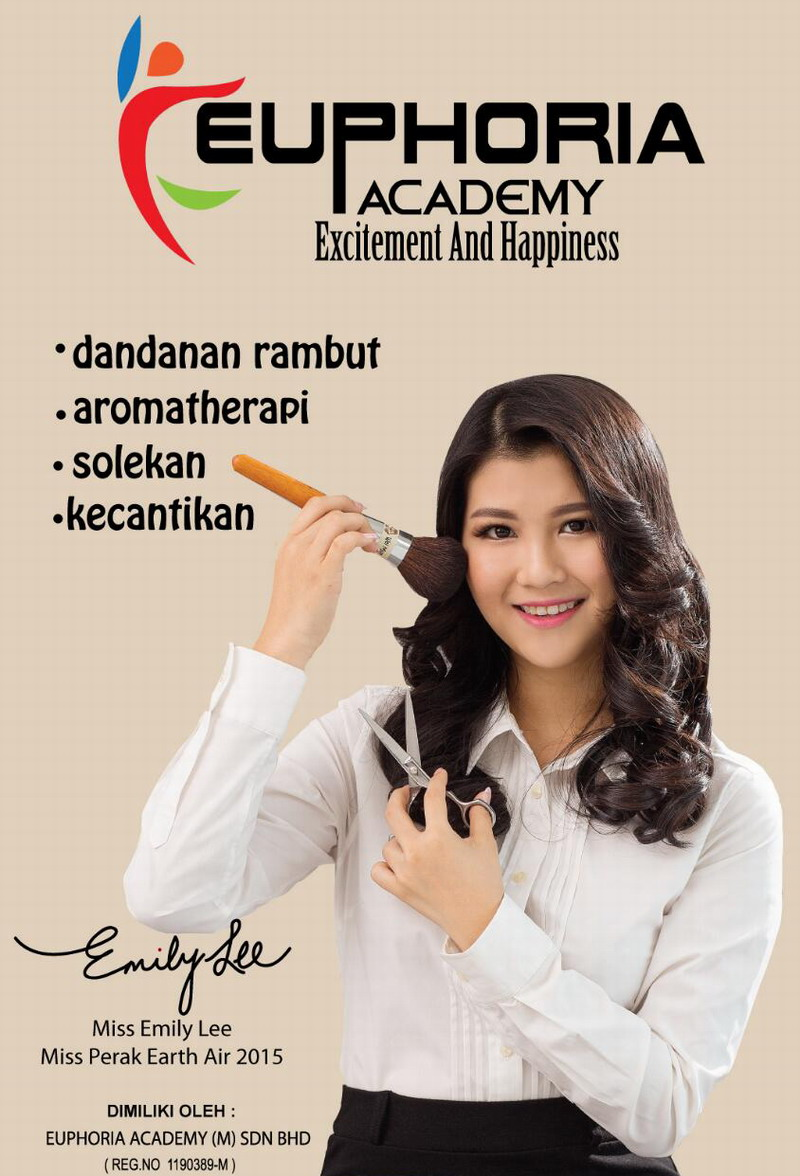 Euphoria Academy Ambassador, Miss Perak Earth Air 2015 Emily Lee