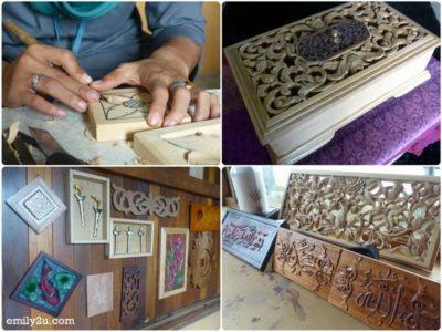 11. hand-carved wood products