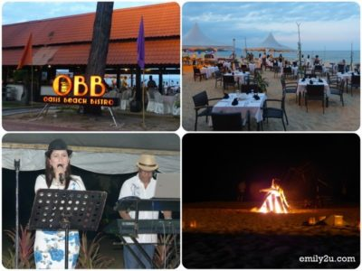 28. dinner at Oasis Beach Bistro with specially arranged live band and bonfire