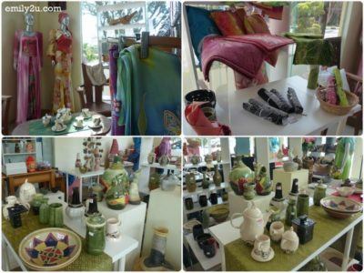 2. an array of craft items in the showroom