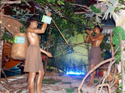 4. a diorama of Orang Asli hunters
