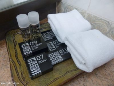 5. complimentary toiletries