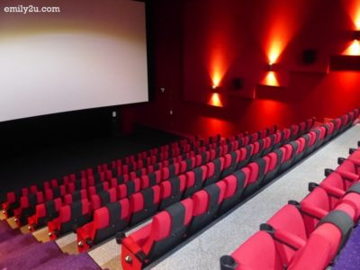 5. one of the cinema halls - note the generous legroom