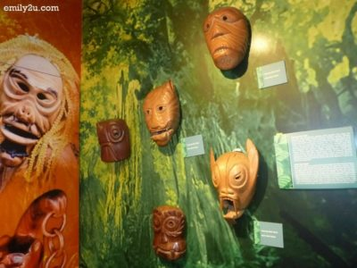9. mask carvings