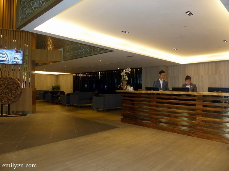 1. reception counter and lobby of Oasia Suites Kuala Lumpur