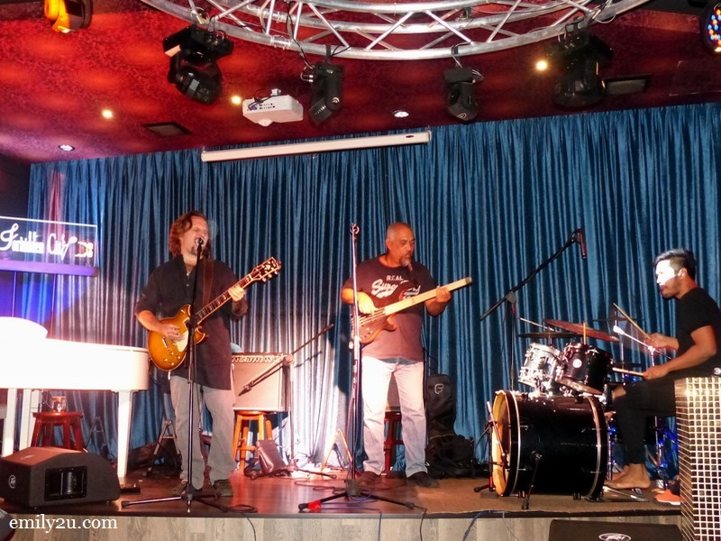 15. live band at The Forbidden City (L-R: guitarist Jamie Wilson, bassist Andy Peterson & drummer John Thomas)