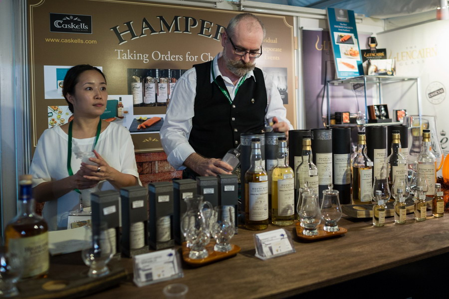 2. an exhibitor at his whisky booth (Oct 2015)