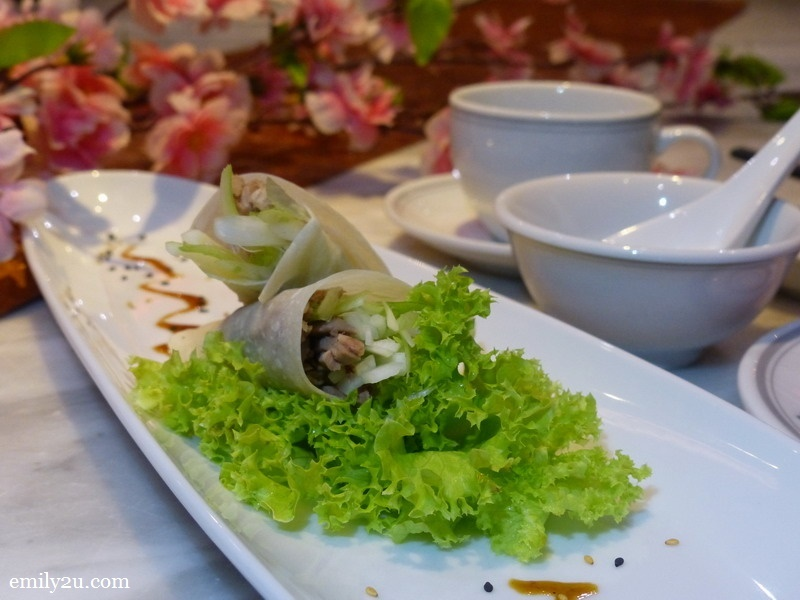 2. aromatic Peking duck in wrap