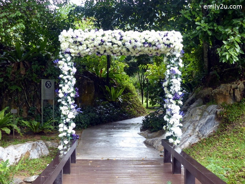 2. floral arch that leads to the secret garden