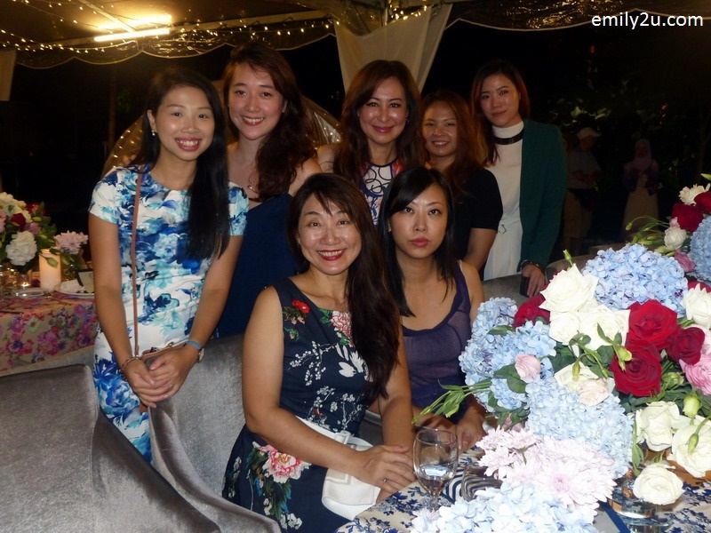 8. The Haven's guest, Ms. Vivienne Cheng (standing - centre) with the team from Spellbound Group (international wedding planners) and Singapore media representatives