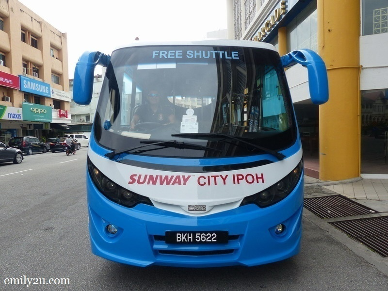 1. Sunway City Ipoh free shuttle bus service