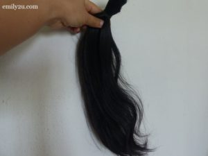 1. 17 inches of hair