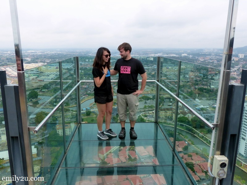 1. Violette Vauchelle (L) & Antoine Bruno Le Guen (R) in the sky box of The Shore, Melaka