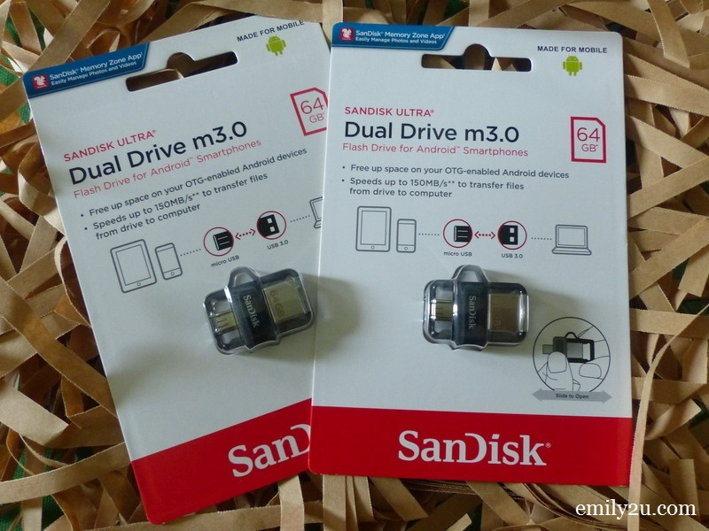 two new SanDisk 64GB flash drives