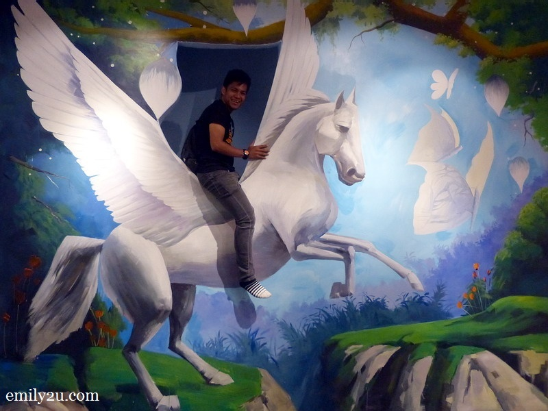2. Uncle Zuan on a pegasus