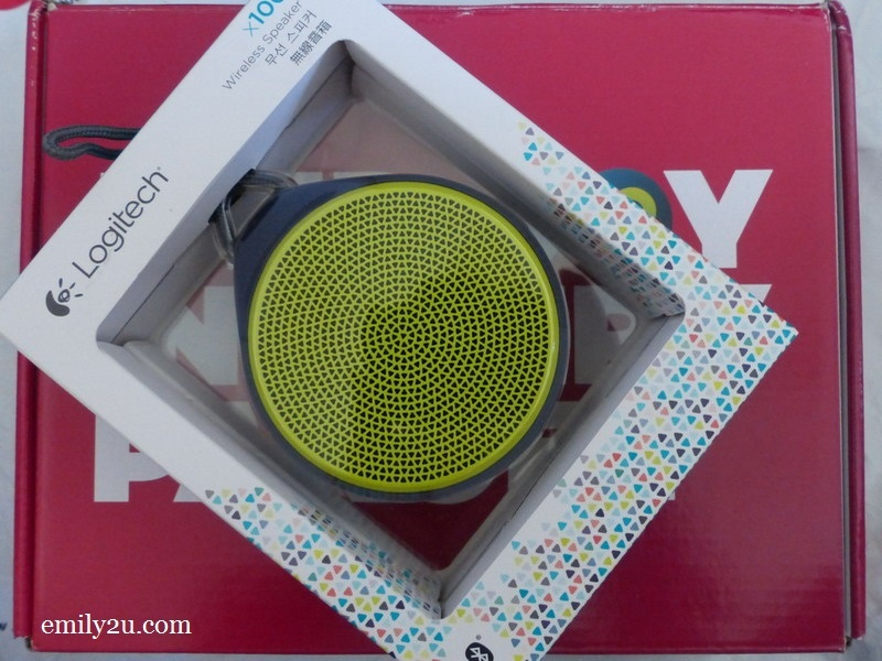 3. Logitech x100 wireless speaker