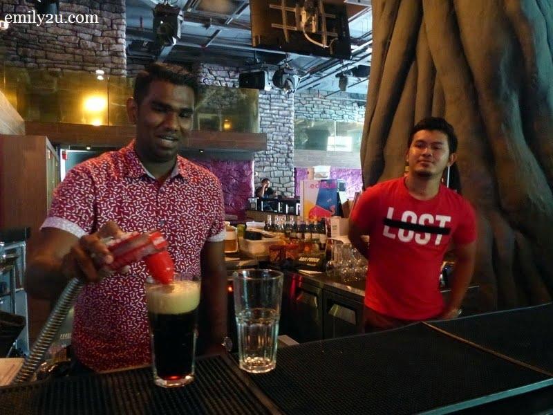 3. bartender at work
