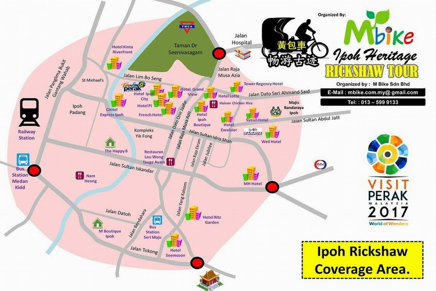 4. Ipoh rickshaw coverage area