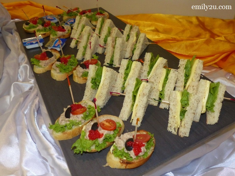 5. assorted sandwich & mixed canapes