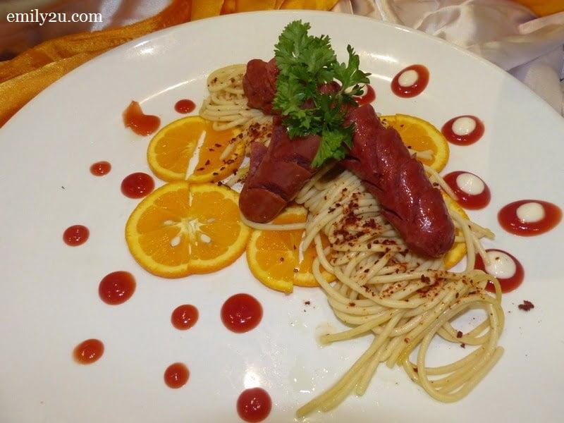 6. beef chorizo in mustard sauce