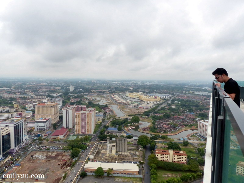 6. Nuar enjoys the aerial view of Melaka