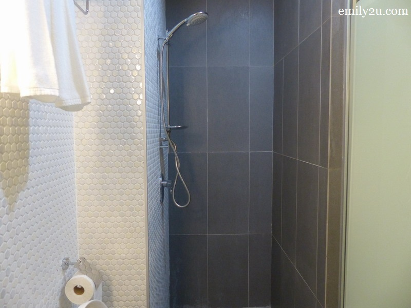 7. narrow shower stall