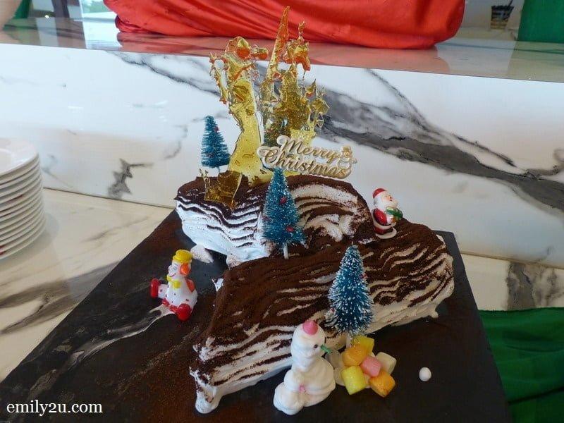 8. Yule log cake