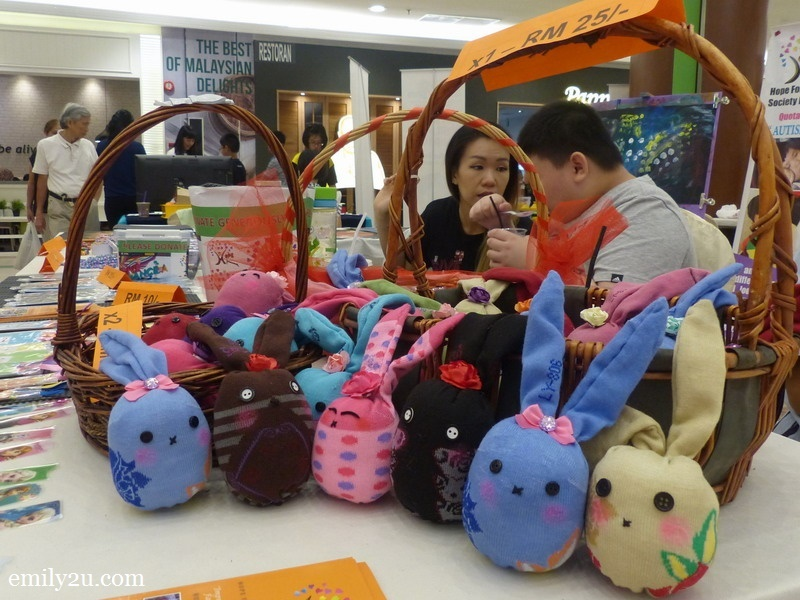 9. the sales booth of Hope For Autism Society