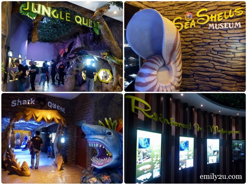 8. different attractions within The Shore Oceanarium