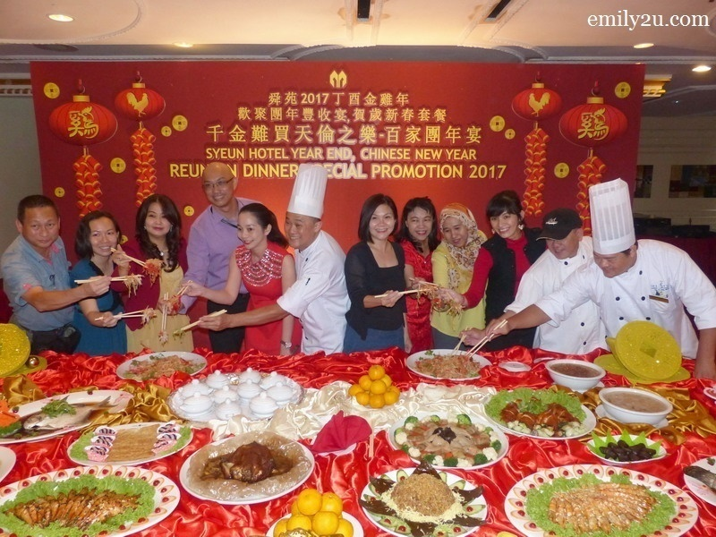 1. pre-Chinese New Year celebration at Syeun Hotel, Ipoh