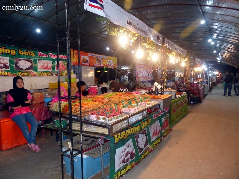 11. one of the rows of stalls