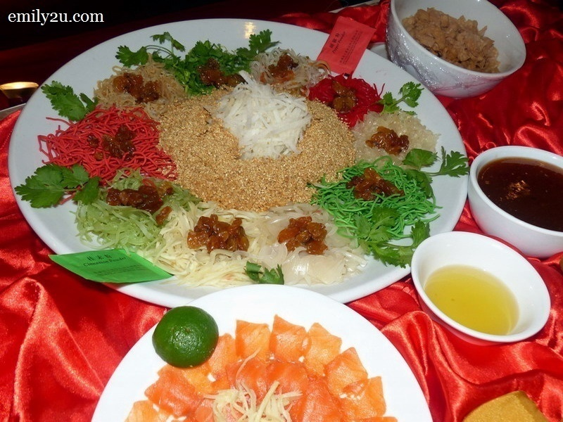 11. Menu D - Prosperity Salmon Yee Sang