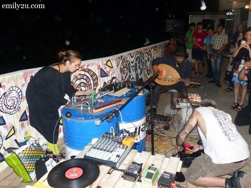 15. experimental music: by musicians from Malaysia, France and Russia