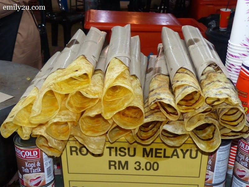 2. roti tisu Melayu / coklat
