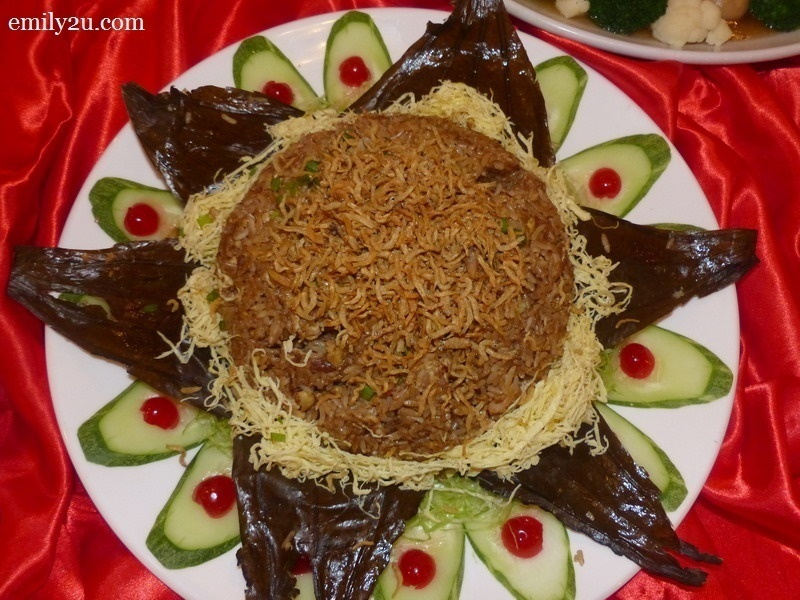 8. Menu C - Fried Rice with Anchovies & Salted Fish Wrapped in Lotus Leaf