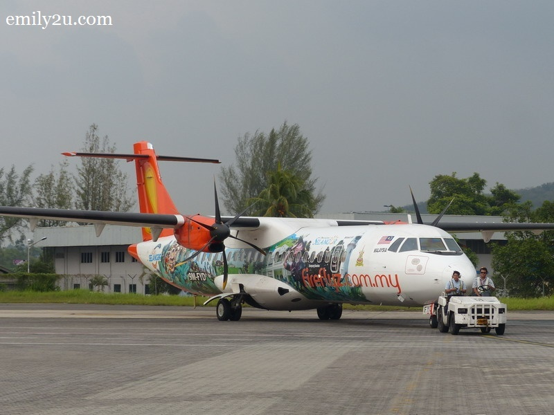 1. the Firefly flight from Singapore touches down at Subang SkyPark Airport