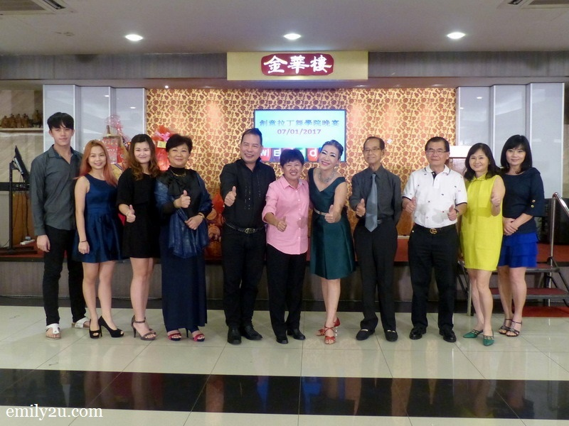 13. Creative Latin Dance Academy founder-cum-principal CL Tan (5th from right) with guest-of-honour Dato' Tan Lian Hoe on her right, along with other VIP guests and sponsors