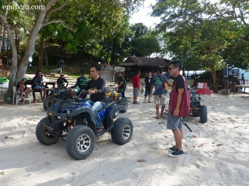 17. one round on the ATV