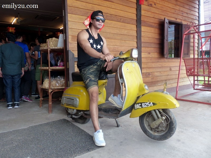 2. Vespa with its rider, Fauzi Mohamad (Pojie)