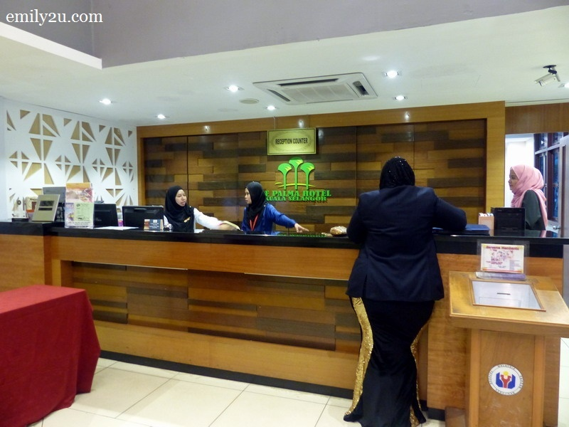 2. reception counter