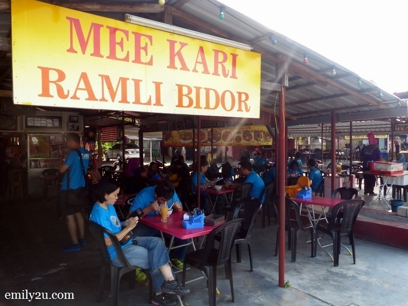 2. Mee Kari Ramli Bidor, first stop of the hunt