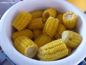 4 boiled corn