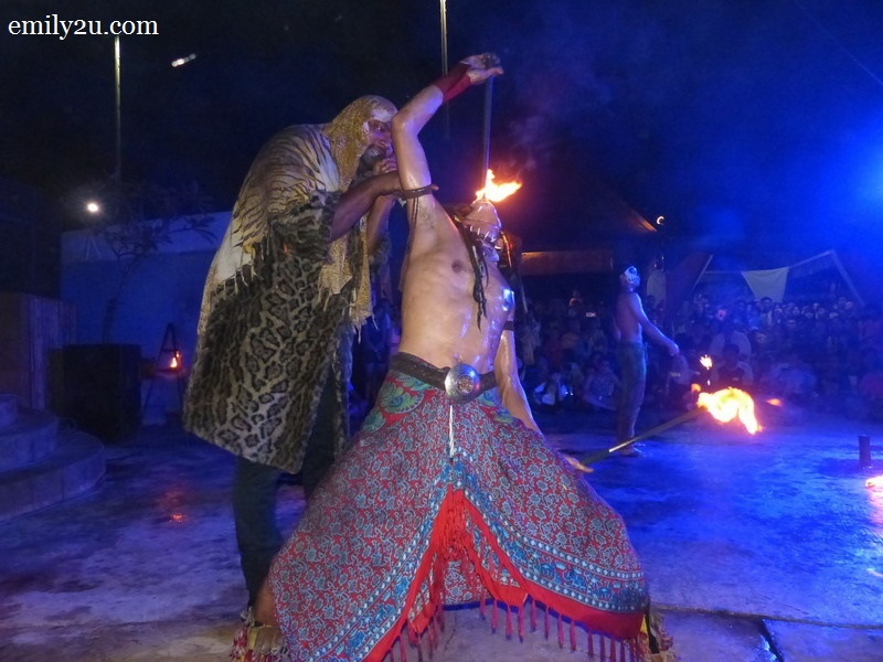 7. the fire-eater in his element