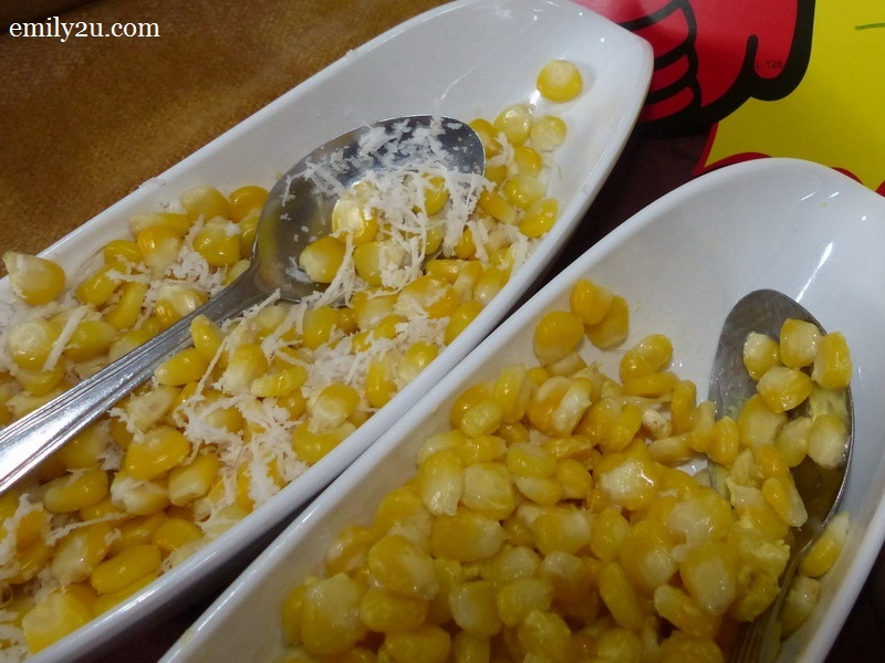 8. steamed corn