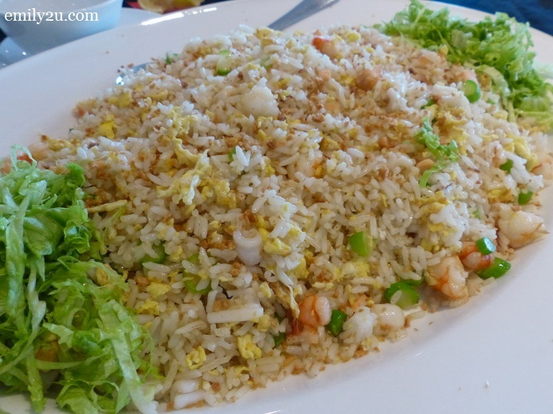 Seafood Fried Rice wrapped in Lotus Leaf