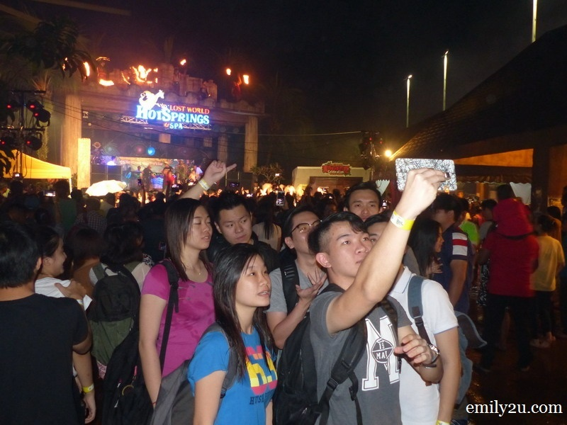 9. a group of revellers take a groufie at the stroke of midnight