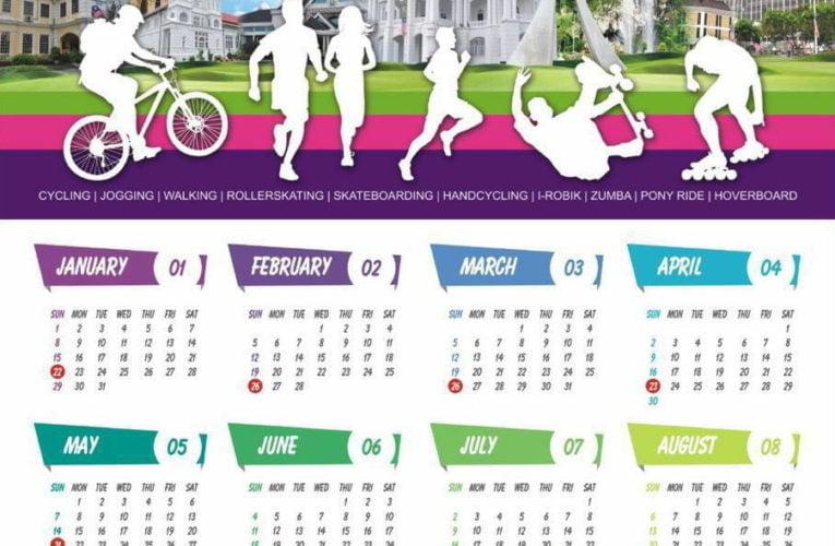 2017 Ipoh Car-Free Day Calendar
