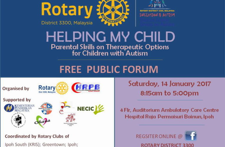 Free Public Forum: Parental Skills on Therapeutic Options for Children with Autism