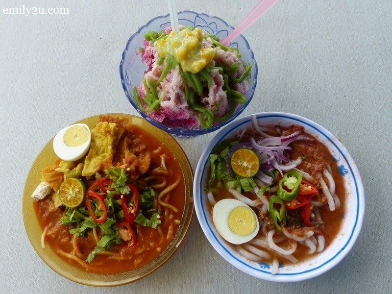18. Warung Mak Yang (clockwise from top): ABC, laksa & mee rebus