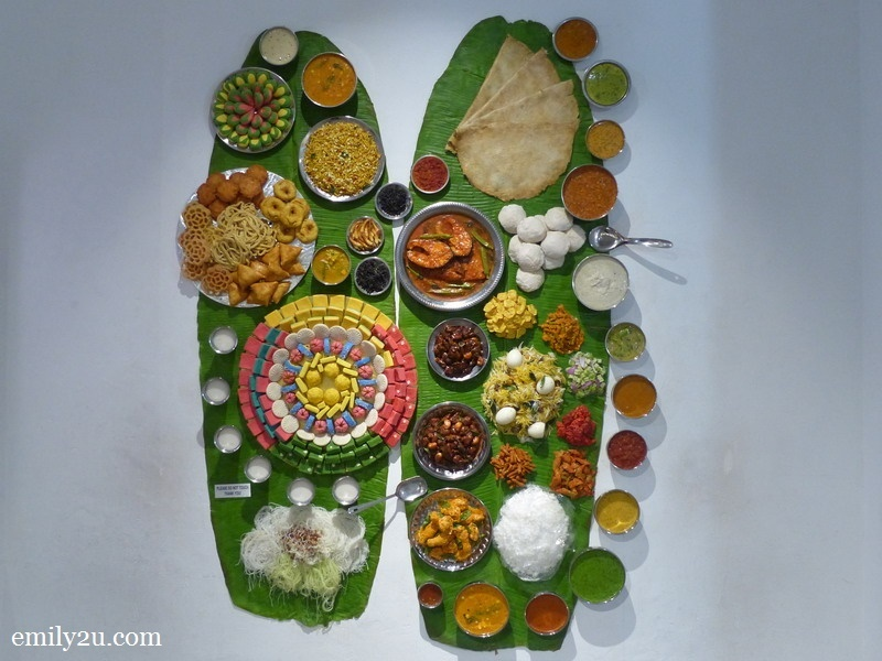 10. Indian banana leaf rice